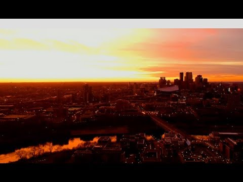 Night Flight in Minneapolis | Aerial Drone Cinematography