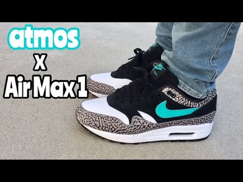 147d9ebd3a Air Max 1 x atmos on feet - YouTube
