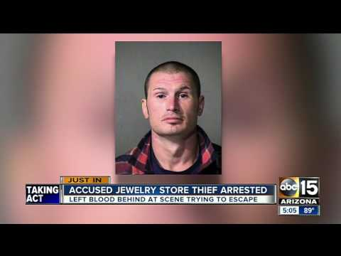 Accused jewelry store thief arrested, one still missing