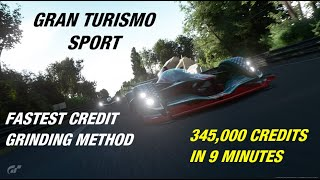 Gran Turismo Sport - Fastest Credit Grind (345k in 9 minutes) - Red Bull X14 @ Sarthe (w/ Setup)