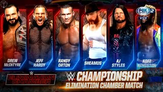 WWE Elimination Chamber 2021 Official Match Card HD