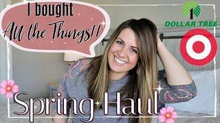 🎯 TARGET DOLLAR SPOT & DOLLAR TREE SPRING HAUL 2019 🌸 :: SPRING HOME DECOR HAUL :: This Crazy Life