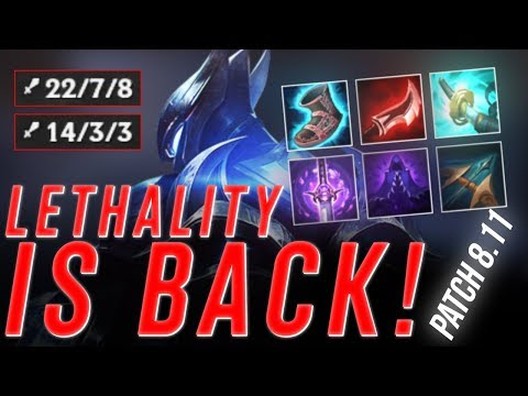 LL Stylish - LETHALITY IS BACK! PATCH 8.11 | WHO'S THE BEST ZED?!