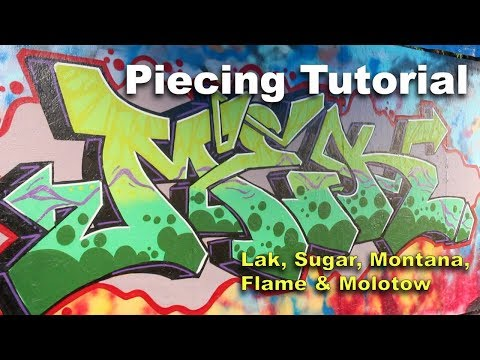 Graffiti Tutorial - Spray Paint Techniques: Montana, Molotow, Flame, Ironlak & Sugar