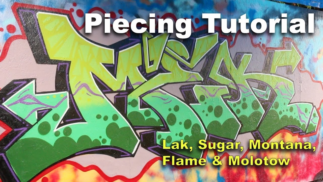 Graffiti Tutorial - Spray Paint Techniques: Montana, Molotow, Flame,  Ironlak & Sugar