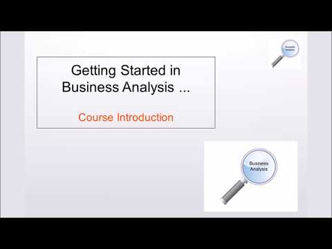 Getting Started in Business Analysis