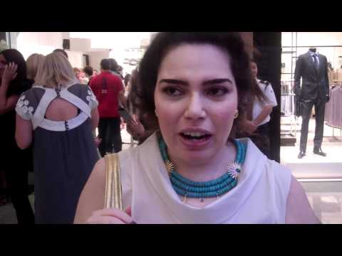 Hania Afifi of deHania jewellery at United Designers launch party in Dubai.