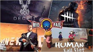 Human Fall Fat | Fun Pandrom | MidFail-YT Live Stream (22-10-2019)