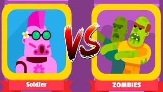 BOWMASTERS - Walkthrough Gameplay - SOLDIER Vs ZOMBIES Z DAYS (iOS Android)