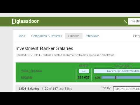 Salary Range For Investment Bankers