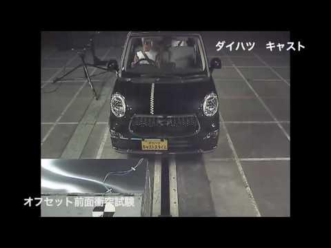 自動車アセスメント:ダイハツキャスト:オフセット前面衝突試験