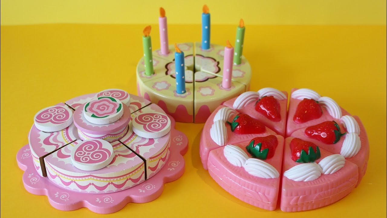 Toy Velcro Cutting Cakes For Kids Strawberry Cream