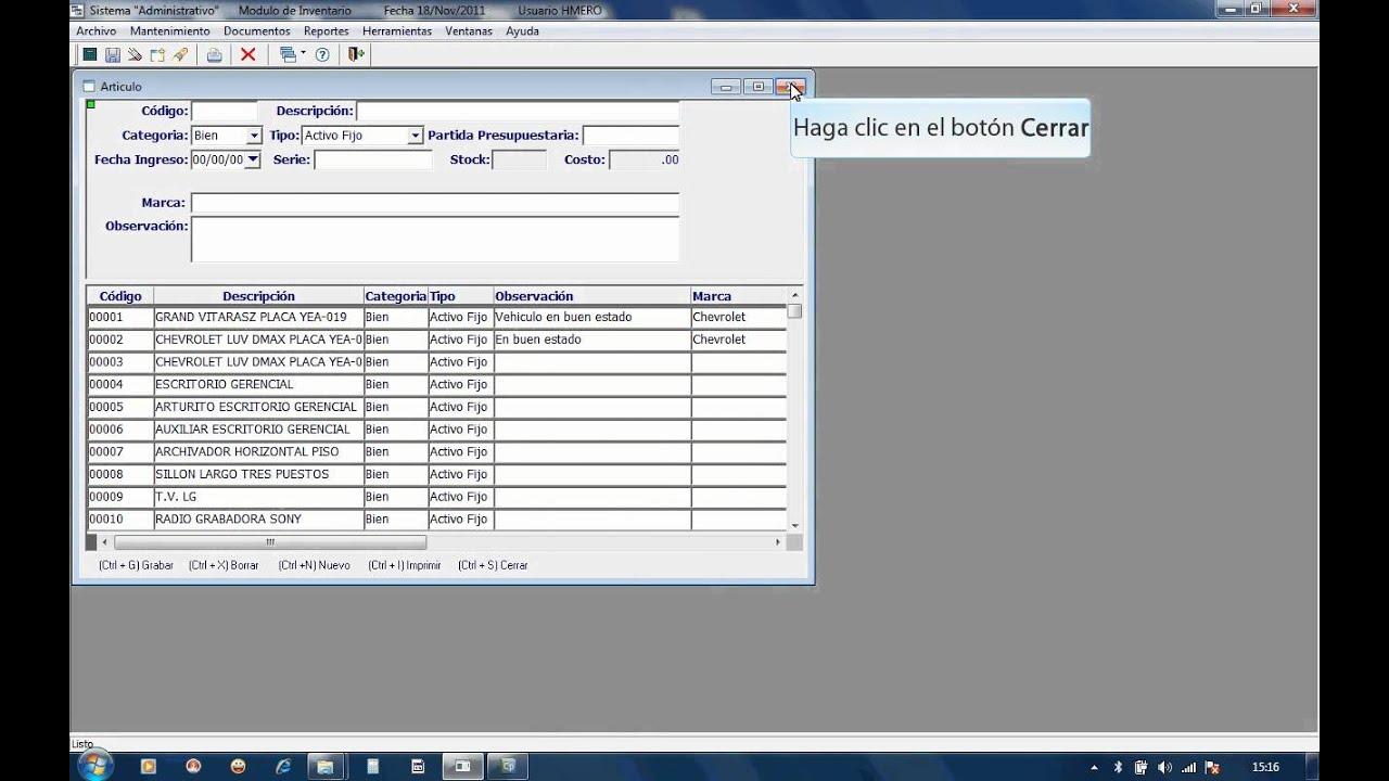 Sistema de registro de bienes muebles youtube for Registro de bienes muebles sevilla