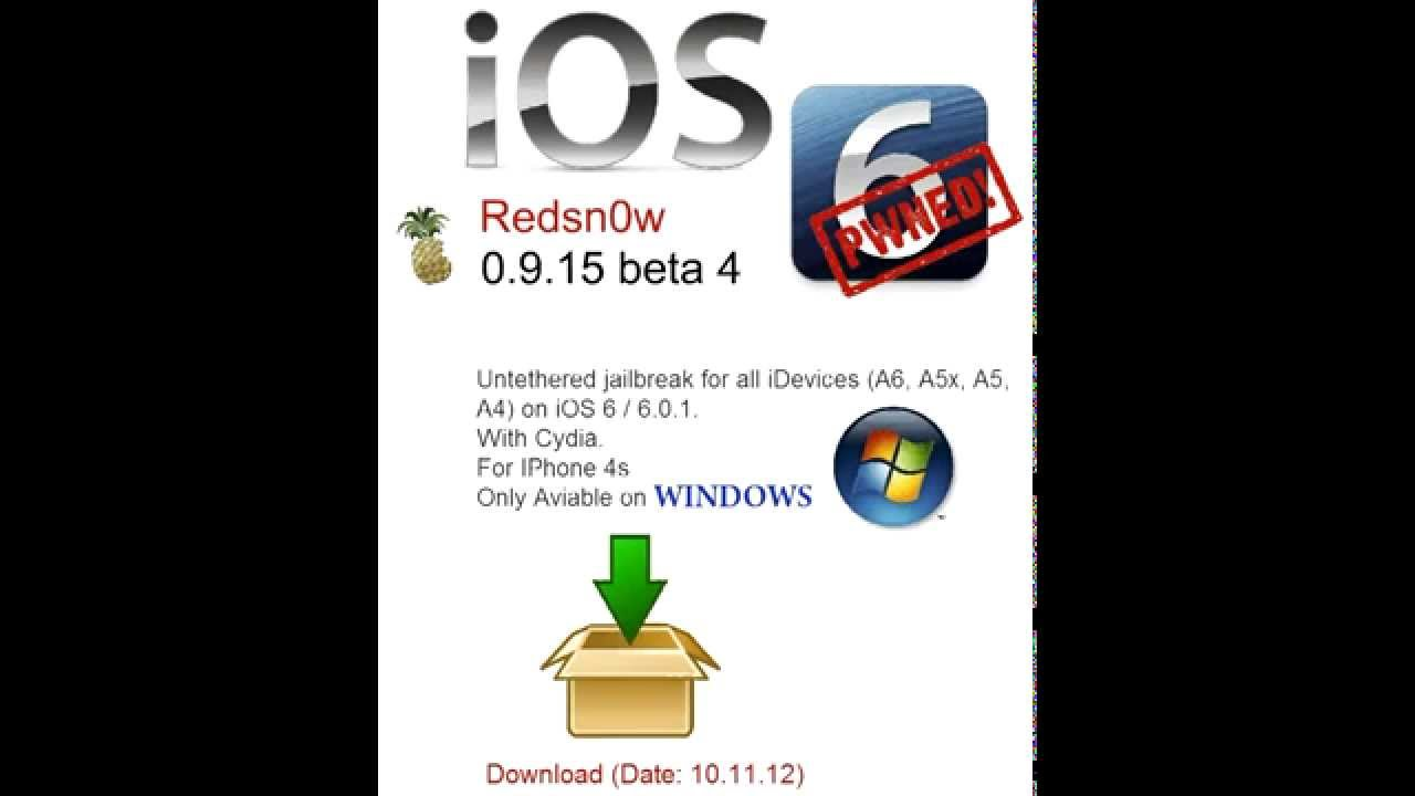 Iphone 4s ios 6 jailbreak redsn0w 0 9 15b4