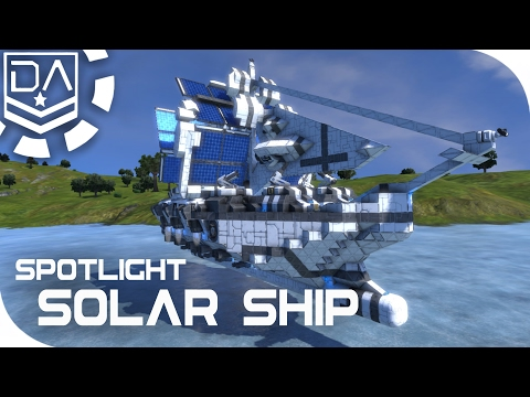 Space Engineers Spotlight | 'Caroline Solar Sailing Ship' By B.A_54