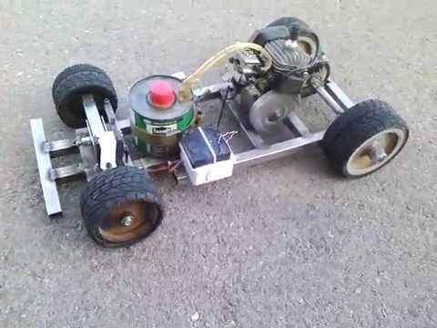 Homemade Rc Car Chainsaw Engine Part 1 Youtube