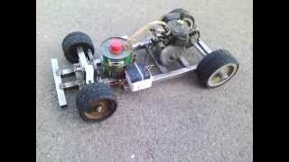 Homemade RC car Chainsaw engine Part 1