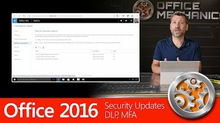 office 2016 security updates demo dlp mfa sharing from outlook