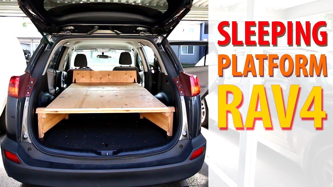 2013 Toyota Rav4 Custom Sleeping Platform Youtube