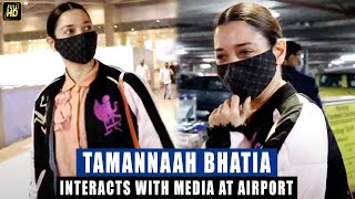 Tamannah Bhatia MISSES Her FLIGHT, APOLOGIZES To Papz For The Delay