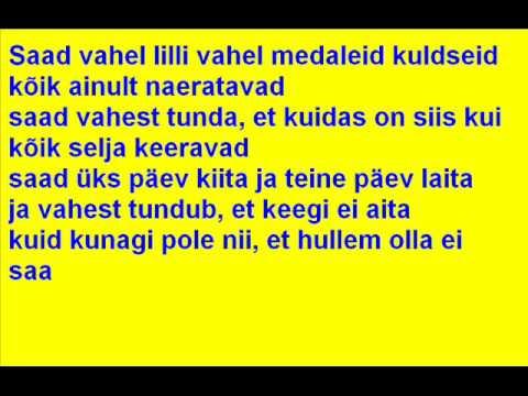 Ines - Must ja valge (laul+sõnad)