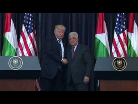 President Trump addresses the press in Palestine