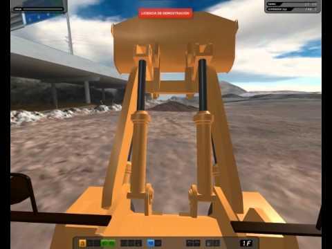 Simulador de pala cargadora de ruedas  YouTube