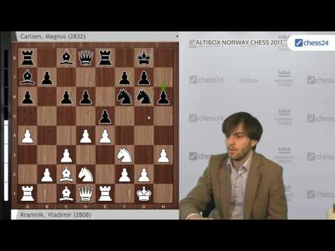 Kramnik - Carlsen, Norway Chess 2017: Analysis by  Grandmaster Nils Grandelius