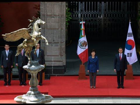 Visita Oficial, señora Park Geun-hye, Presidenta República de Corea. Ceremonia de Bienvenida