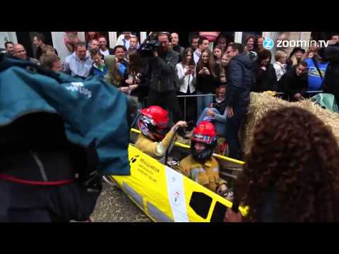 Formula 1 driver swaps race car for soapbox
