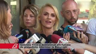 Gabriela Firea a demisionat din functia de presedinte interimar la Bucuresti