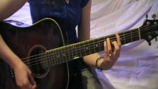 Miley Cyrus - Cant be tamed - Guitarcover