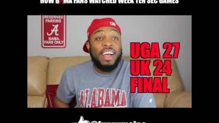 How Bama Fans Watched Week Ten SEC Games