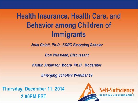 Health Insurance, Health Care, and Behavior among Children of Immigrants