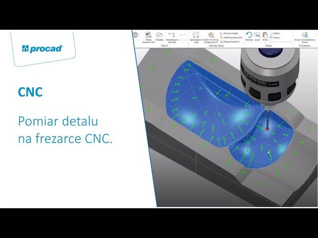Pomiar detalu na frezarce CNC