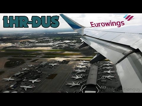 TURBULENCE! Eurowings A320 Full Flight | London Heathrow (LHR) to Düsseldorf (DUS)