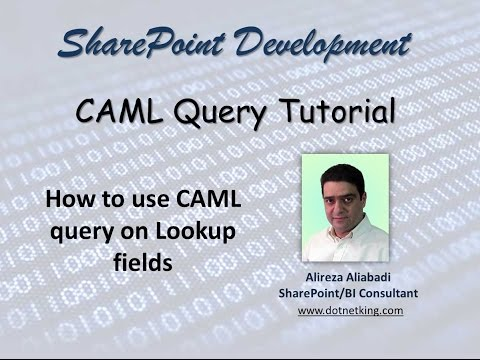 How to use CAML query on Lookup fields in SharePoint 2013 - YouTube
