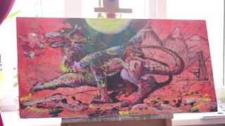 Как нарисовать дракона. Уроки трансовой живописи. Рисуем дракона.(Как нарисовать дракона? Очень легко. При помощи трансовой живописи можно нарисовать все что угодно. Самое..., 2014-06-14T14:50:57.000Z)