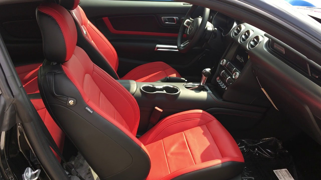 ford mustang interior show stopper red youtube