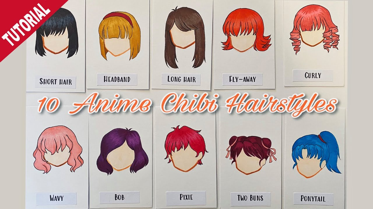 How To Draw 10 Anime Chibi Hairstyles Step By Step Anime Fan Art By Roa Ross Youtube