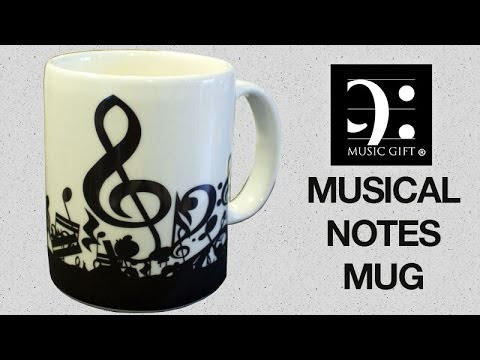 Musical Notes Mug - Music Gift