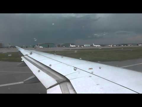 Germanwings A319-132 turbulent takeoff from Stuttgart