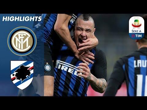 Inter 2-1 Sampdoria   Nainggolan Winner Seals Inter Victory   Serie A
