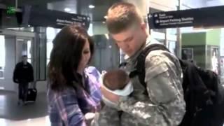 Американские солдаты впервые видят своих новорожденных малышей(Сильные люди не боятся показывать свои слабости. Американские солдаты — мужчины совсем не сентиментальные..., 2014-11-18T08:33:25.000Z)