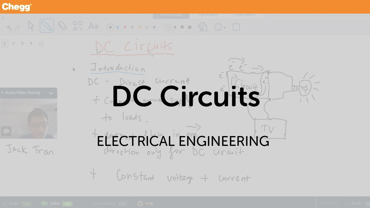 Dc Circuits Electrical Engineering Chegg Tutors Youtube Find Equivalent Resistance Rt Of Given Circuit Cheggcom