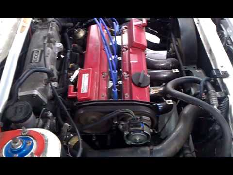 4 cylinder RB heart N.A CA16DE 1988-89 Nissan Engine - YouTube