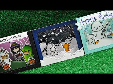 Intro to Shadow Box Card + 3 cards from start to finish