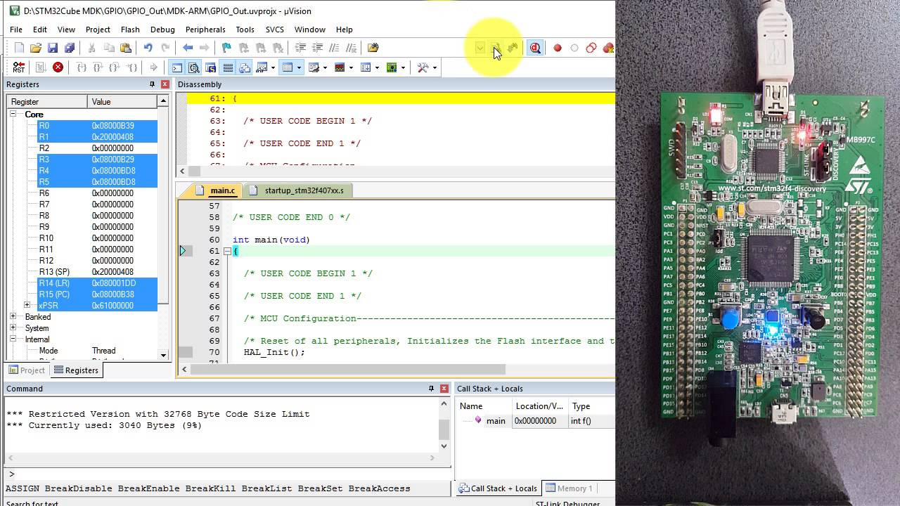 Tutorial CubeMx 1 GPIO Out STM32F4Discovery STM32CubeMX