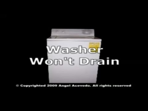 Not draining GE washer on
