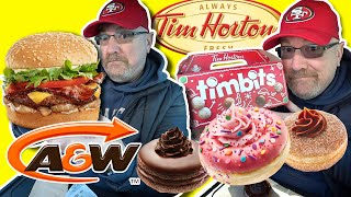 A&W Bistro Uncle Burger Combo ?? & Tim Hortons Premium Dream Donuts Lineup!??
